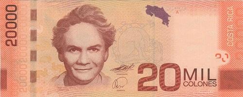 Billetes 20000 Colones