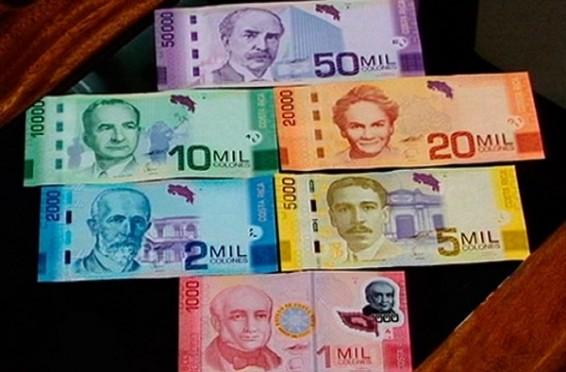 billetes de Costa Rica
